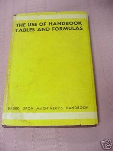 The Use of Handbook Tables and Formulas 1939 HCDJ
