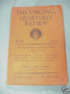 The Virginia Quarterly Review Spring, 1939