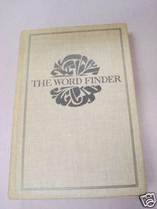 The Word Finder 1952 HC Edited by J. I. Rodale