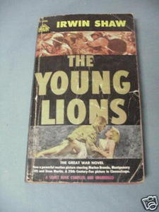 The Young Lions 1958 by Irwin Shaw WWII Fiction PB