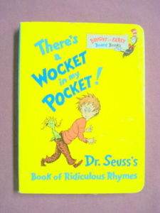 There's A Wocket in my Pocket Board Book Dr. Seuss 1996