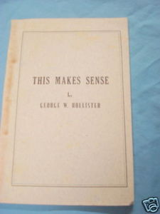 This Makes Sense by George W. Hollister 1952 Softcover