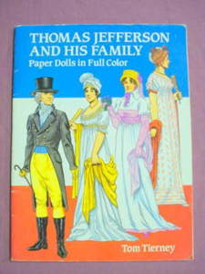 Thomas Jefferson And His Family Paper Dolls 1992