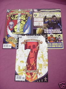 Three 7 Soldiers of Victory DC Comics #0, #1, #4