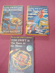 Tom Swift Race to the Moon, His Rocket Ship, Jetmarine