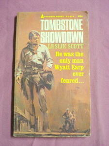Tombstone Showdown Leslie Scott 1964 Western PB