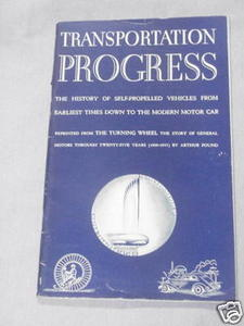 Transportation Progress 1944 by Arthur Pound GM booklet