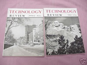 Two 1956 Technology Review Magazines M.I.T.