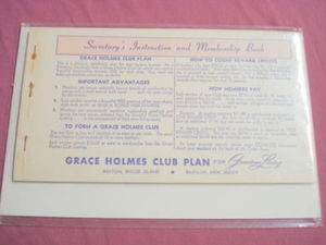 Two 1961 Grace Holmes Club Plan Order Books