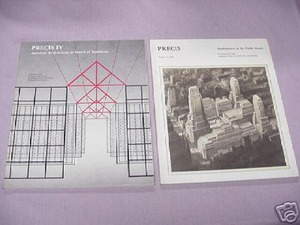 Two 1980's Precis Magazines American Architecture