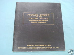 U. S. Postage Stamps 1978 Sotheby Auction Catalog