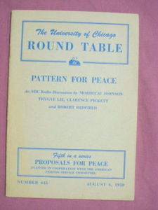 University of Chicago Round Table Booklet 1950 Peace