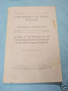 University of Iowa Studies in Character 1930 Prophets