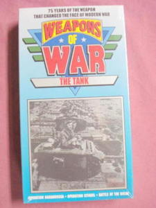 Weapons of War-VHS-Sealed-The Tank