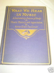 What We Hear In Music 1916 HC Anne Shaw Faulkner