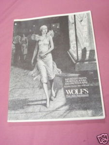 Wolf's Fine Arts Auctioneers 1991 Catalog Prints, Books