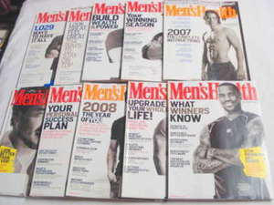 10 Men's Health Magazines from 2006-08 Lebron James
