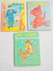 3 Junior Elf Books Little Bear, Milkman Bill, No-Good