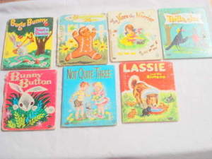 7 Whitman Tell-A-Tale Books Lassie, Bugs Bunny +++