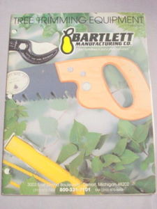1991 Bartlett Manufacturing Co. Catalog Tree Trimming