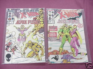 X-Men and Alpha Flight Comics #1, #2 Mini-Series