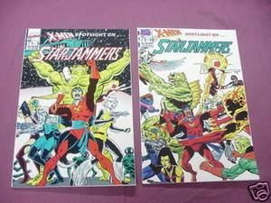 X-Men Spotlight on Starjammers Comics #1, 2 Mini-Series