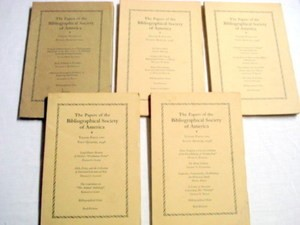 5 Papers of the Bibliographical Society of America 1940's